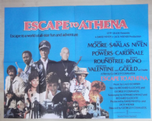 Escape to Athena, Original UK Quad Poster, Roger Moore, Telly Savalas,'79